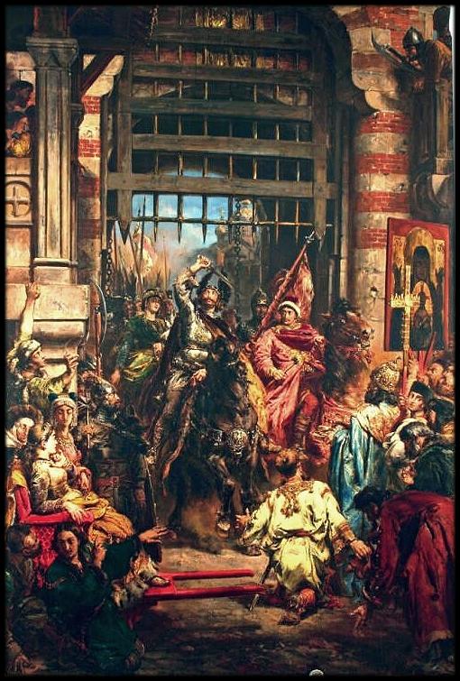 Boleslaw the Brave with Sviatopolk at the Golden Gate in Kiev