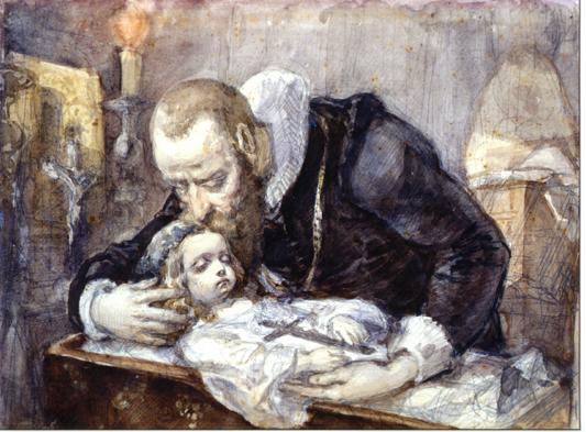 Jan Kochanowski Over the dead body of his daughter